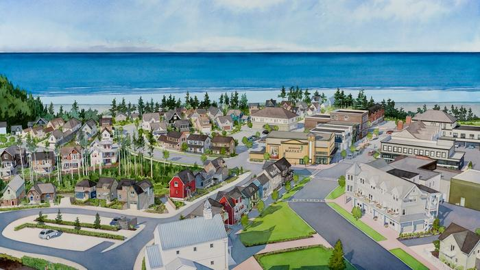 South of Market is the new neighborhood in Seabrook, a planned community on Washington's coast. The 35 houses, which are built in phases, will join the 335 homes that have been built since the town was founded 16 years ago.