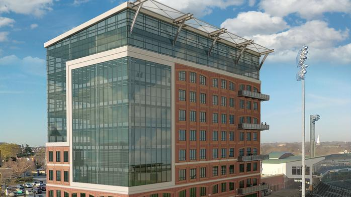 How the ballpark office tower could boost Triad builder's brand
