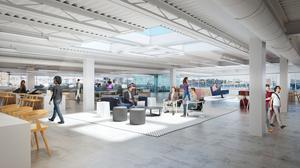 """Constitution Wharf is being marketed as """"a rare opportunity for companies to have a high performance work environment in an urban waterfront setting with spectacular views of the Boston skyline and Boston Harbor."""""""