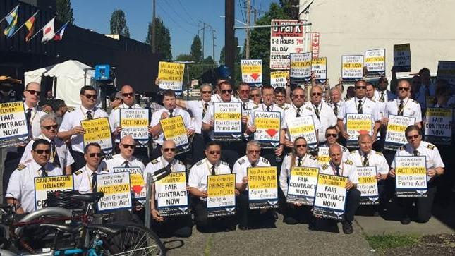 Amazon Prime Air pilots protest - Cincinnati Business Courier