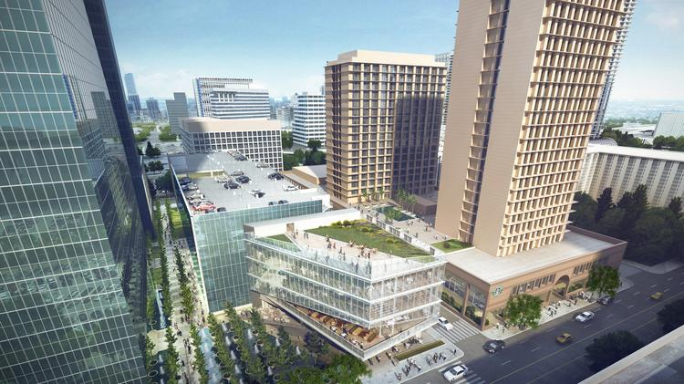 The Fountain Place garage will be built to add additional green space to the western part of downtown Dallas.