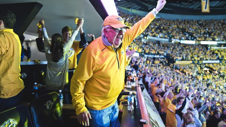 Smash hit: Chairman and co-owner Tom Cigarran says the Preds