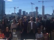 Galvanize, CU Denver officials announce the new Pathways Program on Thursday, May 25.