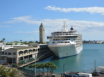 World's largest luxury residential cruise ship docks at Aloha Tower