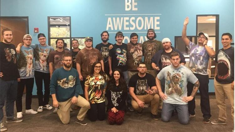 "Team members at Arrive Logistics, one of two Austin companies on Inc. magazine's 2017 list of ""Best Workplaces."" The company hosts a weekly ""Wildlife Wednesday"" when workers  can dress up as the animal of their choice."