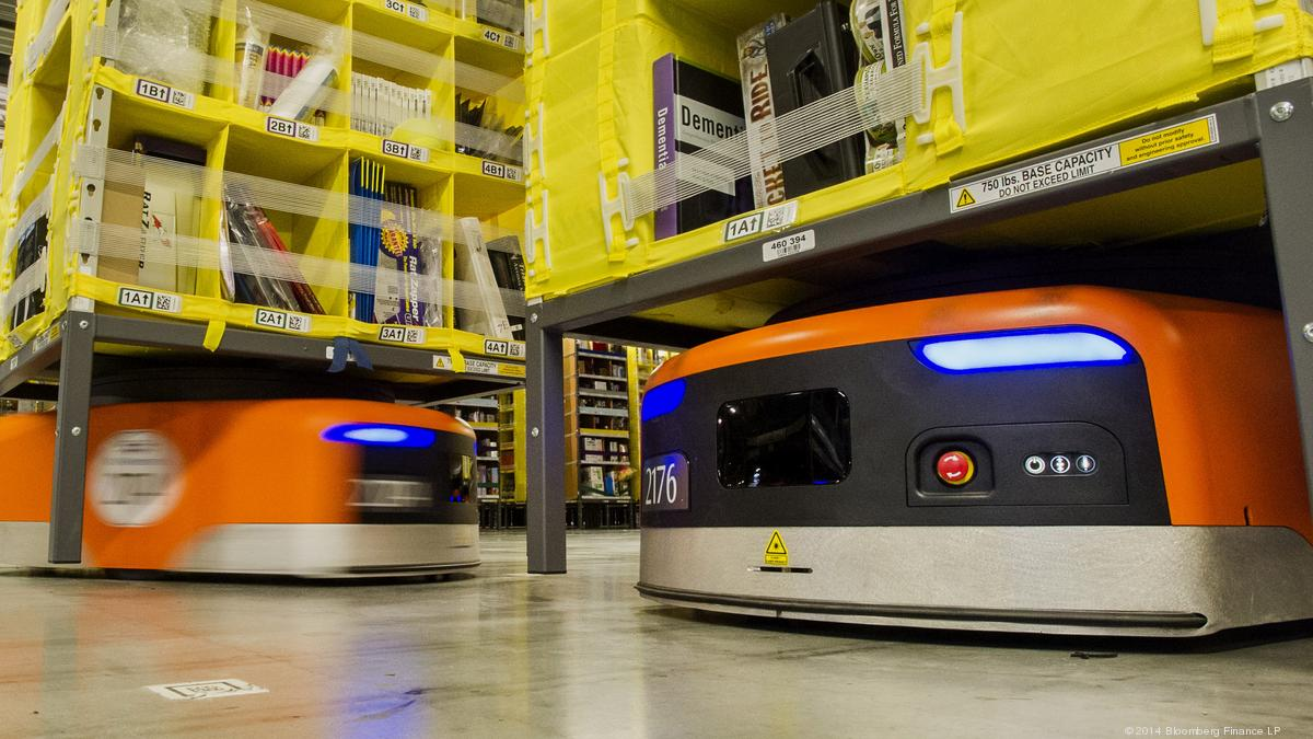 Do robots take human jobs? Amazon argues that's a myth