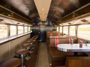 The HighBrewLiner's interior resemble a vintage diner.