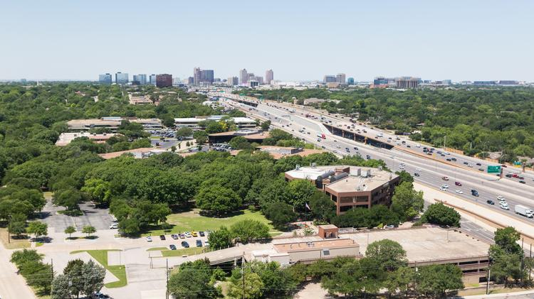 The 8-acre Brinker International campus sits along LBJ Freeway in North Dallas.