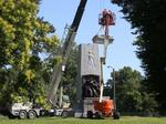 Part of Confederate Memorial in Forest Park removed