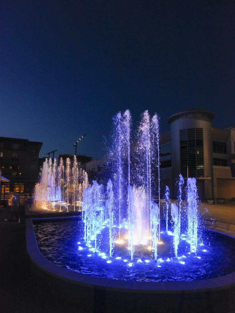 The new show fountains at Legacy West are the only ones like it in North Texas, making this development a destination.