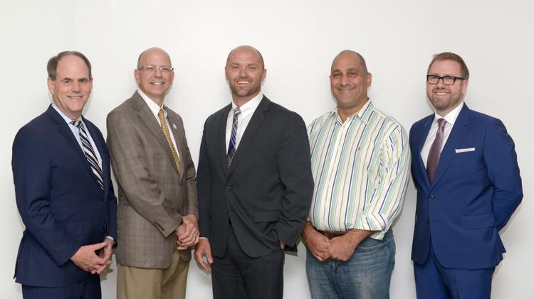 From left: Michael Noble, Fresh Energy; Jim Berge, King Solutions; Brent Wavra, Commissioning Solutions; Chris Psihos, Ideal Energies; Andrew Moratzka, Stoel Rives