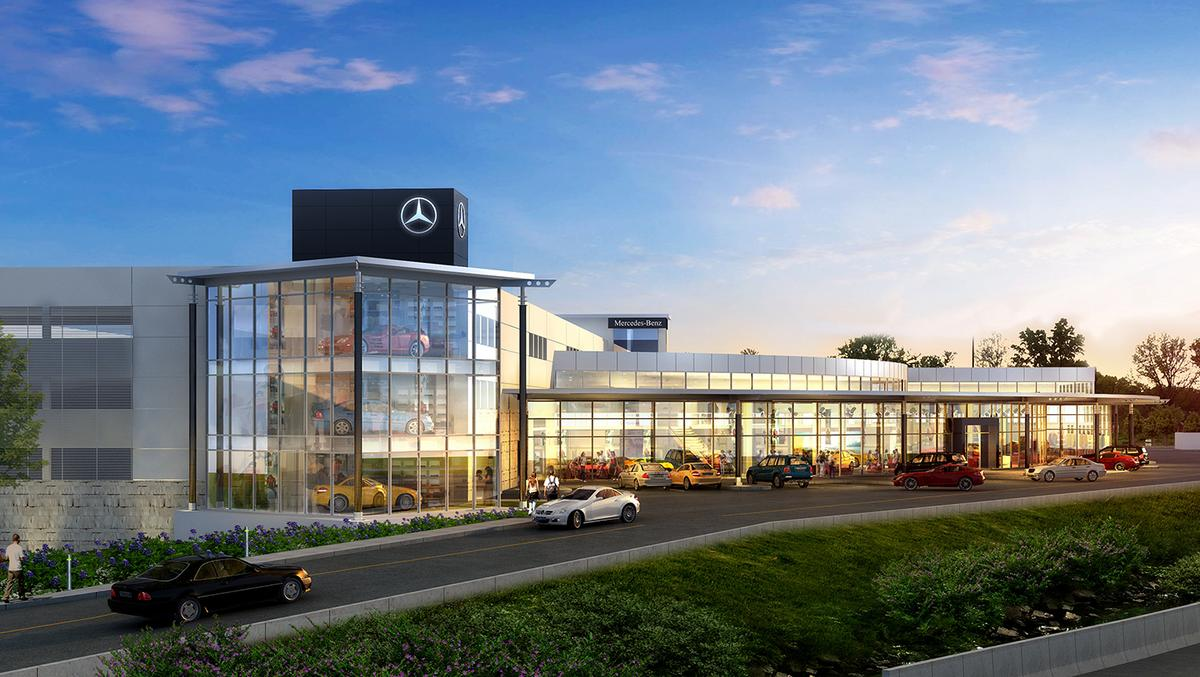 Mercedes benz of cincinnati planning massive dealership for Mercedes benz montgomery road