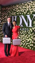 Local CPA guarding briefcase with winner's names at this weekend's Tony Awards