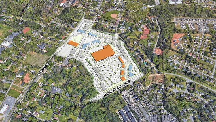 MPV Properties and Bowman Development Group are planning to develop a town-center project called Vermillion Village on a 30-acre between North Church Street and Huntersville-Concord Road in Huntersville.