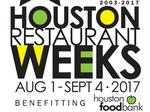 Houston Restaurant Weeks announces participating restaurants for 2017