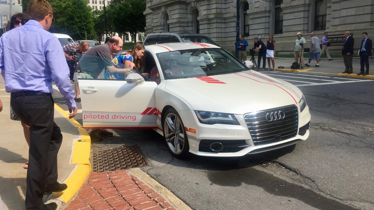 Audi Of America Tests Selfdriving Car In Albany NY Video - Audi of albany