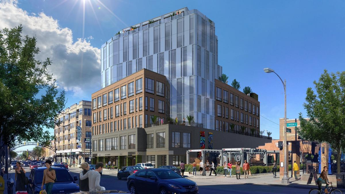 Crawford Hoying Unveils New Look For 10 Story Moxy Hotel In Short North Columbus Business First