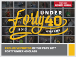 Exclusive photos of the PBJ's 2017 Forty Under 40 class