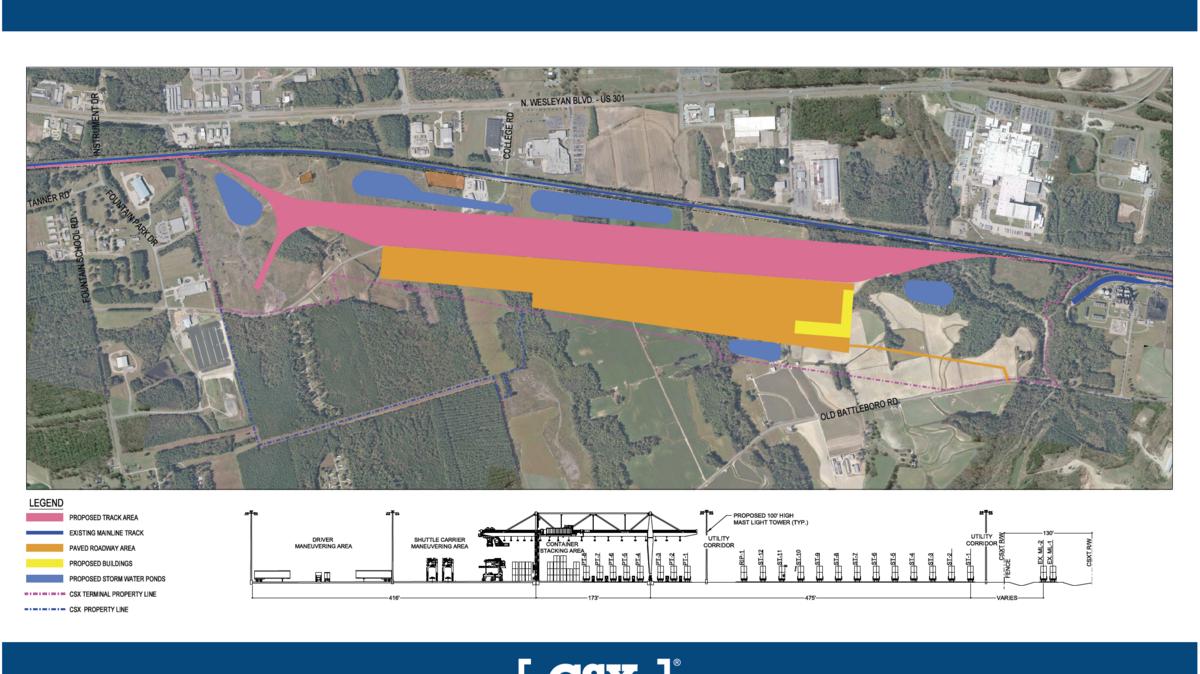 CSX unveils new details about massive North Carolina terminal