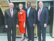 Nathan Deal, Governor of Georgia. The Metro Atlanta Chamber opened its new headquarters on Jan. 19, 2017. On hand were Gov. Nathan Deal, from left, Metro Atlanta Chamber President Hala Moddelmog, Mayor Kasim Reed and Intercontinental Exchange Inc. CEO Jeffrey Sprecher.