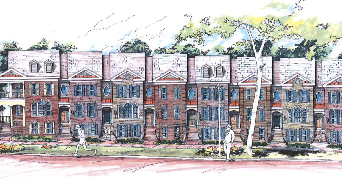 18 townhome project planned near pill hill atlanta for Townhome layouts