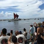 Business leaders, celebrities and visitors welcome Hokulea