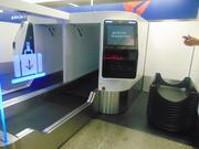 Passengers traveling through Delta at MSP, Delta's second-largest hub, will be able to use four self-service baggage machines, where they will attach their baggage tags, scan their boarding pass, and put their luggage on a machine that will send their luggage to an area where it will be loaded to an airplane.