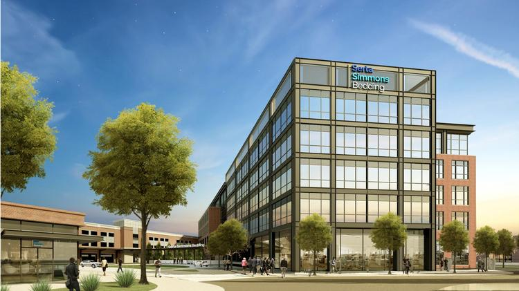 Mattress Giant Serta Simmons Bedding Will Occupy A 500 Employee Campus On The Site Of