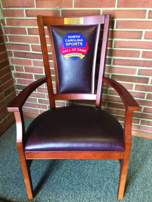 Beau The N.C. Hall Of Fame Chair Pictured Here Was Made By Absolute Style, A  Furniture