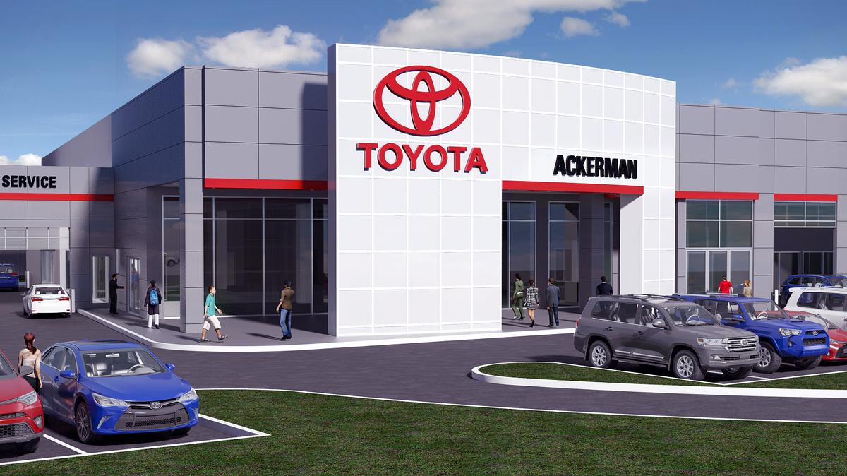 New ackerman toyota dealership on the hill moves forward st louis business journal