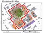What will go where? A conceptual layout of High Point's stadium, surrounding development