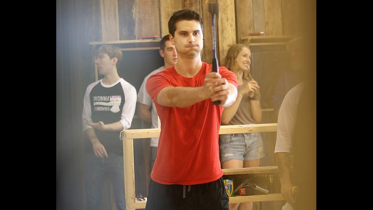 I Tried It Throwing Axes As A Team Building Exercise