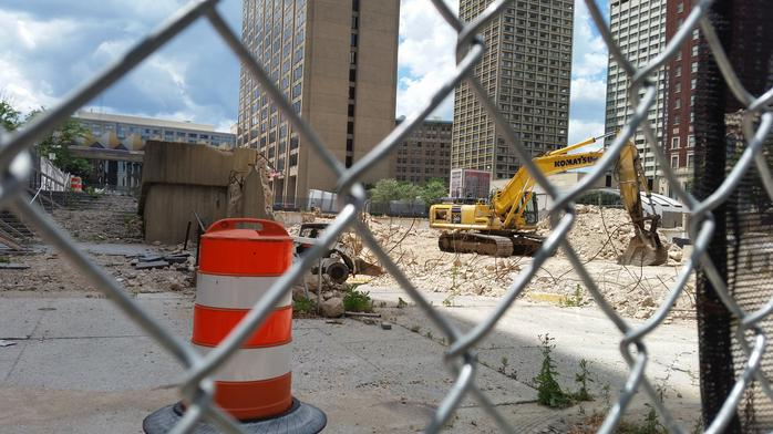 Activity at former Morris A. Mechanic Theatre site sparks renewed hope of development