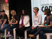 Panelists for the Women Who Code Portland event were: Sue Hayes, senior director of commerce core platform engineering at Nike; Meena Arunachalam, principal engineer at Intel; Dana Lawson, vice president of engineering at InVision, which makes a design and development collaboration platform; and April Leonard, engineering manager at New Relic, whose software is used to monitor app performance. The conversation was moderated by Vaidehi Joshi, staff engineer at Tilde Inc., a software development shop.