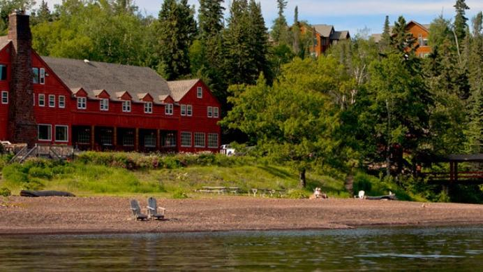 Lutsen Resort Includes A Beachfront Main Lodge On Lake Superior Along With Smaller Cabins Around