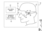 Universal patent details use of augmented-reality goggles in rides
