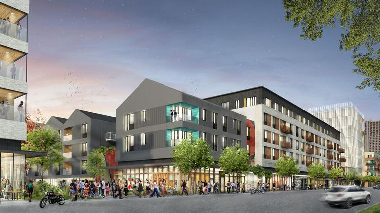 A rendering of Saltillo from East Fifth Street.