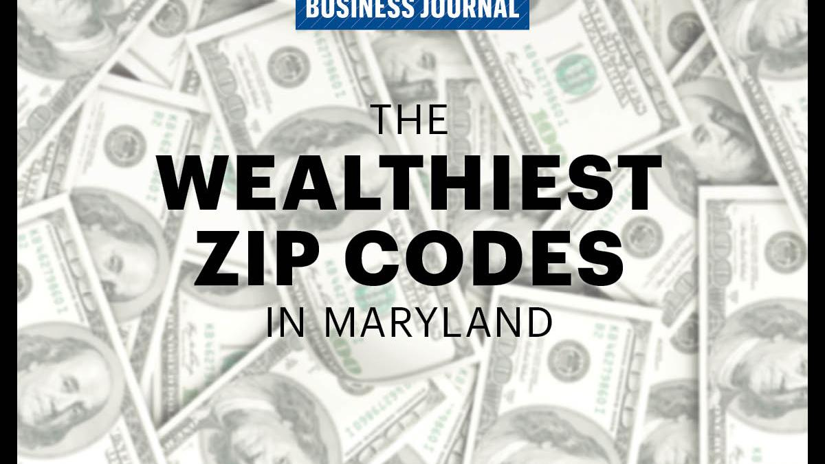 These Are The  Wealthiest ZIP Codes In Maryland Baltimore - Us zip codes ranked by income
