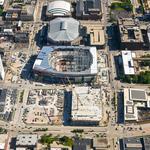 Bucks arena construction reaches halfway mark, hiring goals exceeded