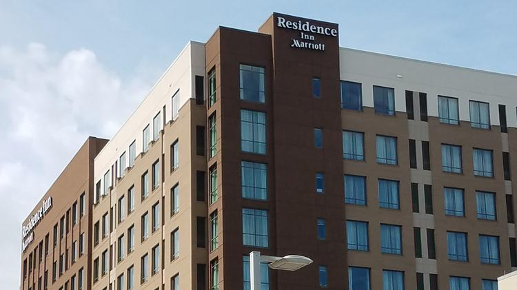 The 10 Story Residence Inn Raleigh Downtown Hotel At 616 S Salisbury St