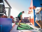 Ever thought of hitting a golf ball from the top of Levi's Stadium?