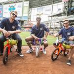Brewers players build bikes for kids from Next Door Foundation: Slideshow