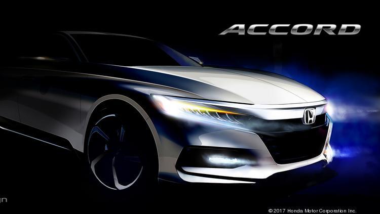 A Concept Sketch Of The 2018 Honda Accord