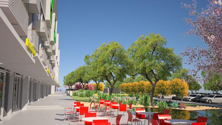A rendering of Lakeview Green