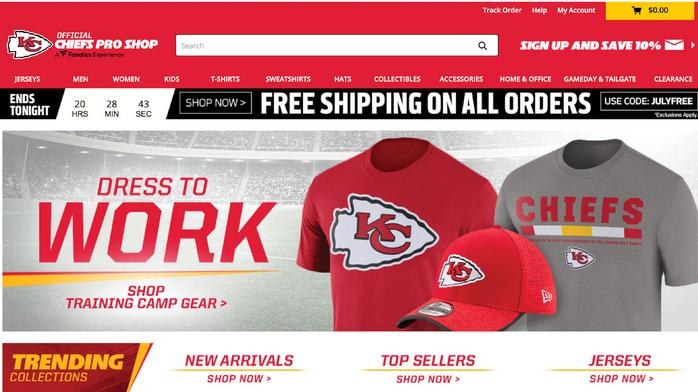 Chiefs draw up e-commerce play to deliver more merch faster