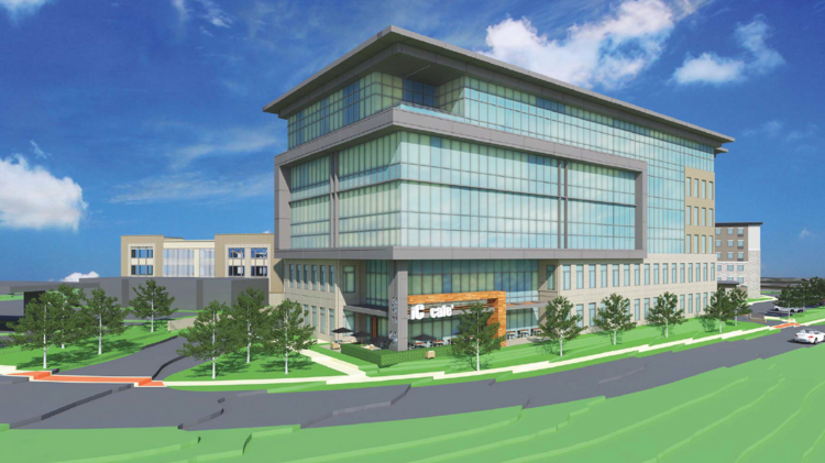 This Rendering Depicts The New 150 000 Square Foot Office Building Proposed As Part Of