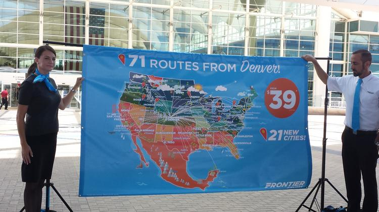 Frontier Airlines is adding 21 nonstop destinations from ...