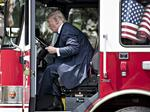 Trump pictured with Wisconsin-made firetruck for 'Made in America' event