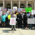 Airbnb hosts rally against 'hotel-funded spy tactics'