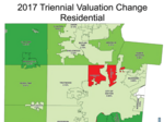 Whose property values increased the most in Montgomery County?